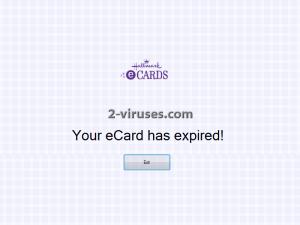 Hallmark eCard Tech Support pop-up