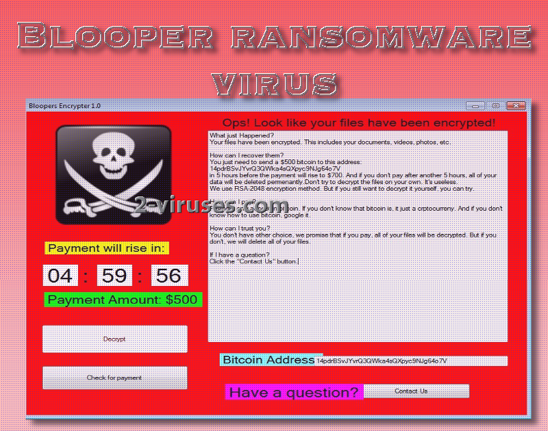 Blooper virus