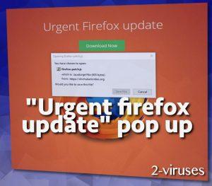 """""""Urgent Firefox Update"""" pop-up"""