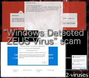 """""""Windows Detected ZEUS Virus"""" svindel"""