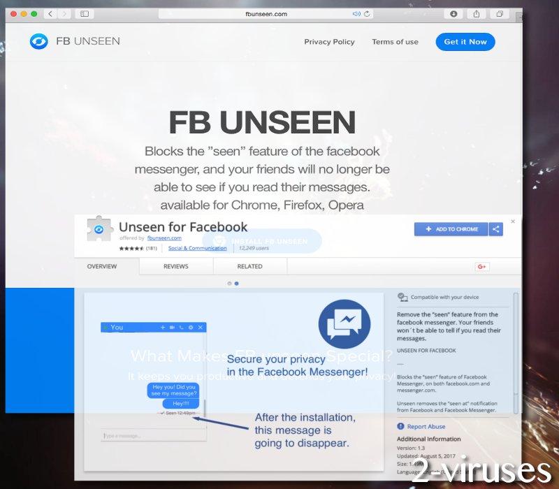 Unseen malware virus
