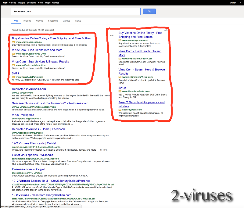 Vosteran search results
