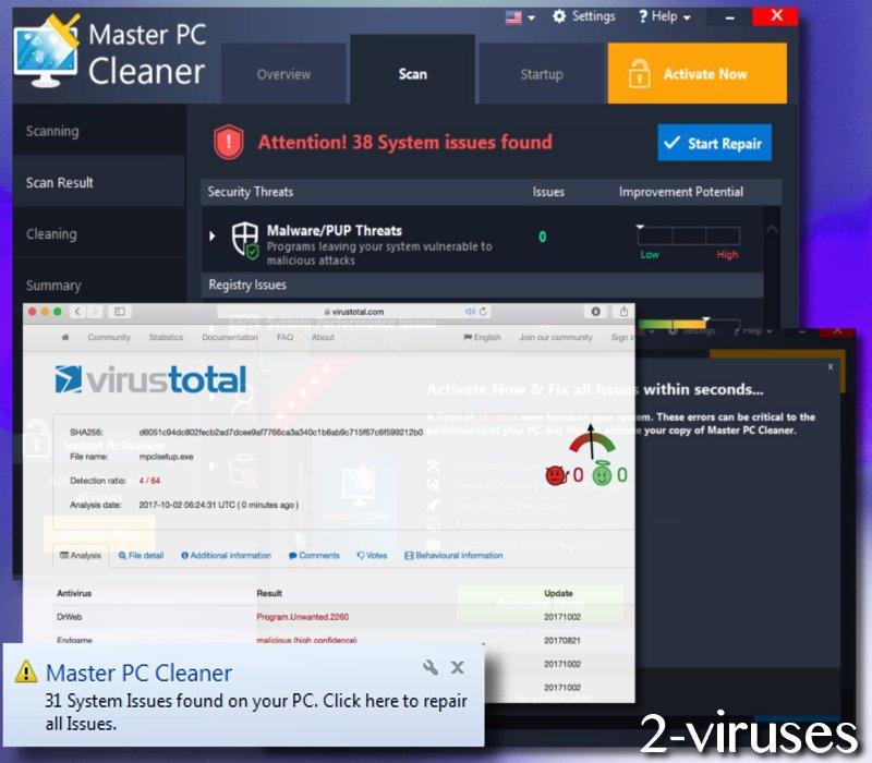 Master PC Cleaner virus