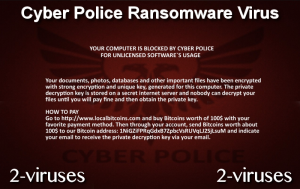 Cyber Police Ransomware Virus