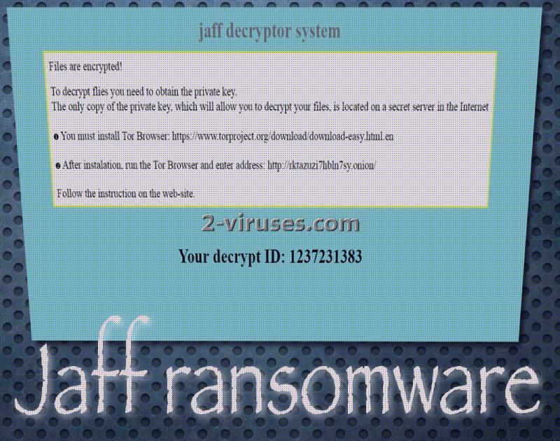 Jaff ransomware virus