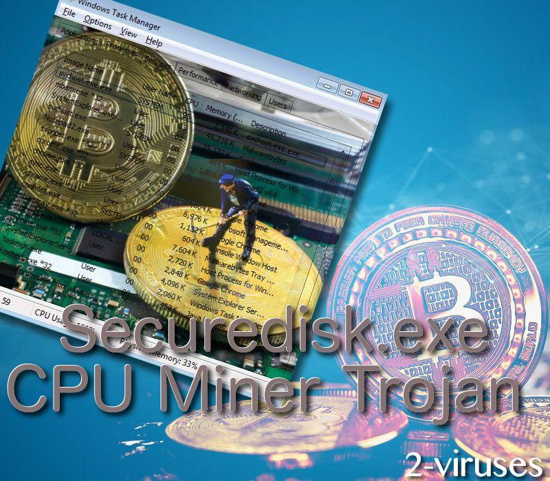 Securedisk.exe CPU Miner Trojan