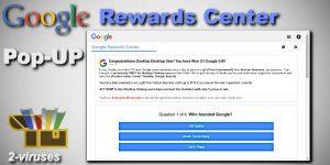 Google Rewards Centre Pop-up