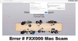 Error # FXXX000 Mac Svindel