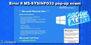 ERROR # MS-SYSINFO32 popup-svindel