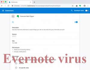 Evernote virus